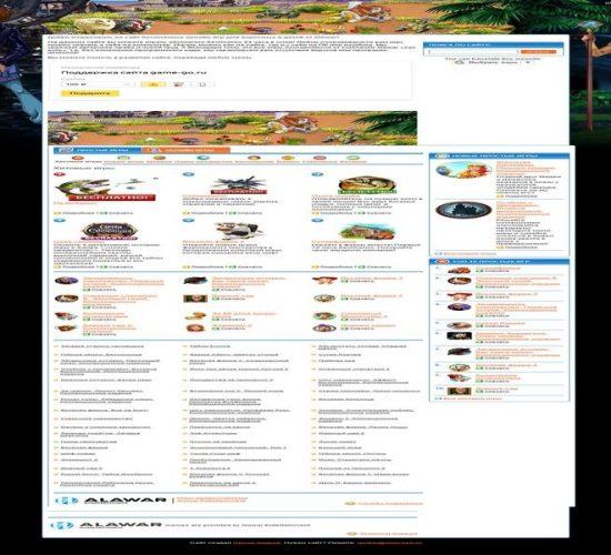 Сайт с онлайн-играми game-go.ru